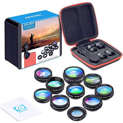 Le kit d'objectifs 10-en-1 Apexel APL-DG10