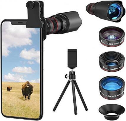 Le kit d'objectifs pour smartphone Selvim SL002BK-FR