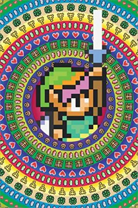 Le poster rétro pixel The Legend of Zelda
