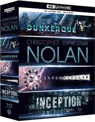 Coffret trois films Christopher Nolan