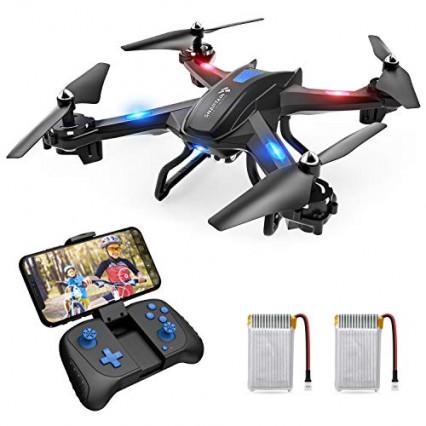 Le drone radiocommandé livré avec deux batteries