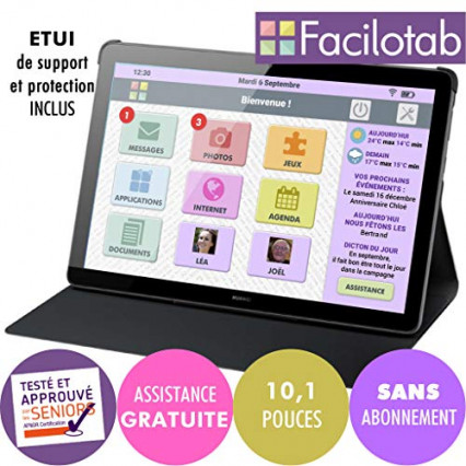 La tablette grand écran spéciale senior Facilotab