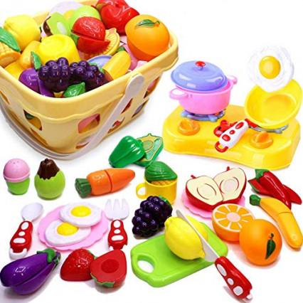 Les fruits et légumes à découper avec leurs accessoires par Airlab