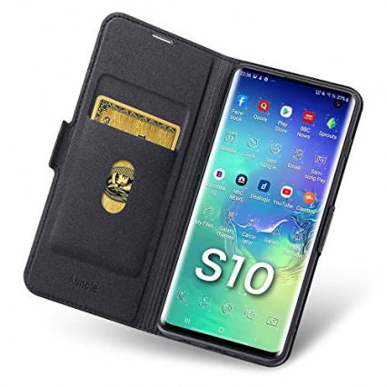L'étui à rabat qui fait porte-carte pour Samsung Galaxy S10 par Aunote