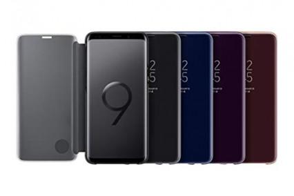 L'étui à rabat Clear View pour Samsung Galaxy S9