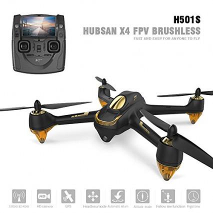 Le modèle avec télécommande à écran intégré, le drone avec caméra Hubsan H501S