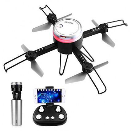 Un drone télécommandé repliable en caméra IP