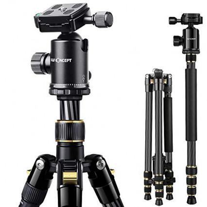 Le trépied pour appareil photo avec niveaux à bulle intégrés
