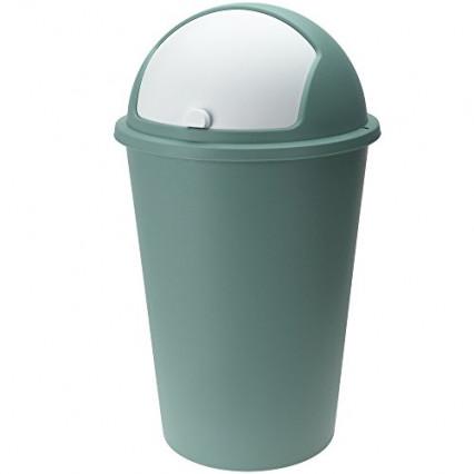 Une poubelle de cuisine en plastique au look rétro