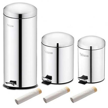 Le meilleur rapport qualité-prix, l'ensemble de 3 poubelles de tri Velaze