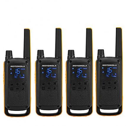 Un lot de 4 talkies-walkies pour utilisation extrême