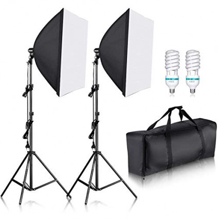 Un kit de softbox carrée