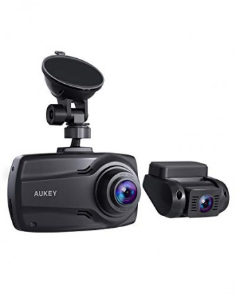 Aukey DR03-BLACK-AD, la double dashcam en Full HD