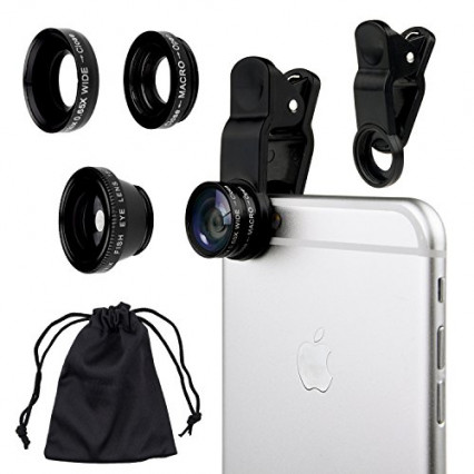 Kit appareil photo et lentilles pour smartphone 3 en 1 CamKix, pour les photographes