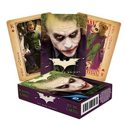 Le jeu de cartes The Dark Knight à l'effigie du Joker de Heath Ledger