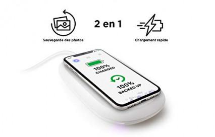 La SanDisk iXpand 256 go qui fait office de chargeur sans fil