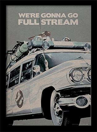"Affiche encadrée avec la citation ""We're gonna go full stream"""