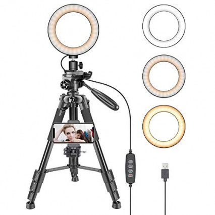 Le Ring Light LED 6 pouces de chez Neewer, pour obtenir une meilleure luminosité