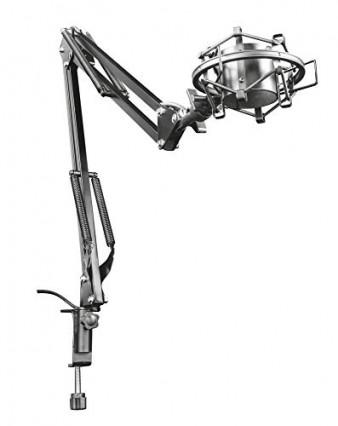 Le bras de micro GXT 253 Emita de Trust avec câble intégré