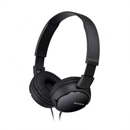 Le casque filaire Sony MDR-ZX110B, pliable et filaire
