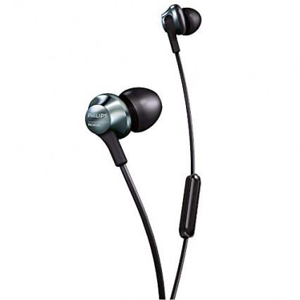 Les écouteurs intra-auriculaires Philips PRO6105BK/00, l'oreillette microphone