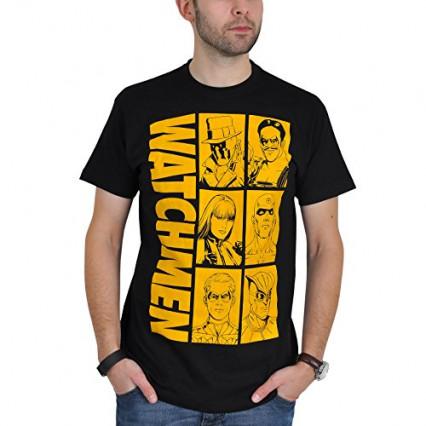 Le t-shirt Watchmen à l'effigie de tous les personnages