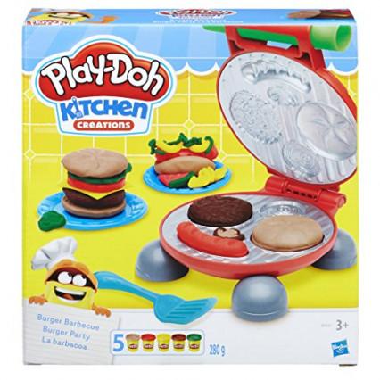 Le kit Burger Party en pâte à modeler de Play-Doh, pour faire comme au restau