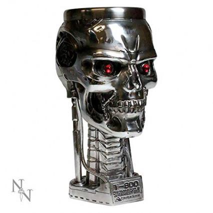 Chope Terminator 2 avec le crâne du T-800