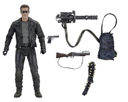 La figurine d'Arnold Schwarzenegger et tous ses accessoires dans Terminator