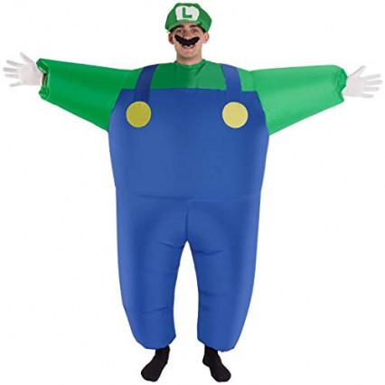 Un déguisement d'Halloween gonflable à l'effigie de Luigi