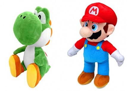 Les peluches Mario et Yoshi, sous licence officielle