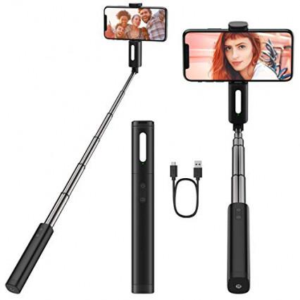Perche à selfie Yoozon avec LED, pour rehausser la lumière des photos