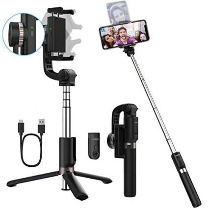 La perche à selfie Yoozon S20 qui fait également stabilisateur