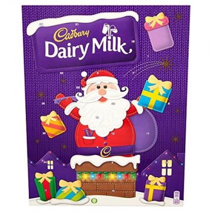 Le calendrier au chocolat au lait Cadbury