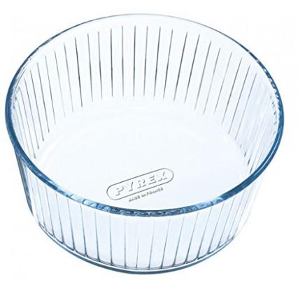 le moule à gâteau rond en verre