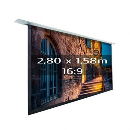L'écran de projection encastrable et motorisé Kimex 048-1516