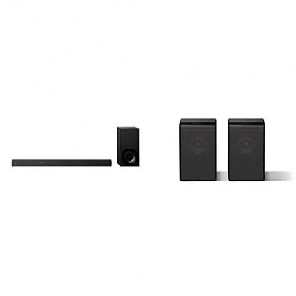 Une barre de son Sony HT-ZF9 et des enceintes Sony SA-ZR9