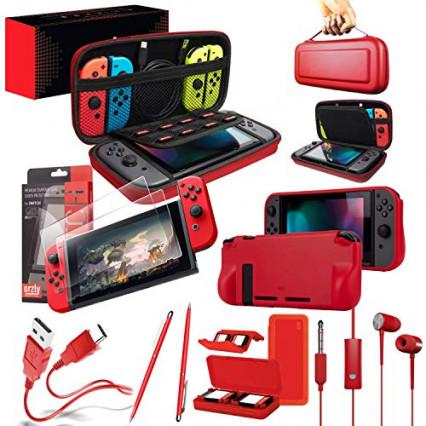 L'étui et les accessoires Orzly pour la Nintendo Switch