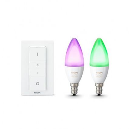 Le pack Philips Hue deux ampoules + télécommande