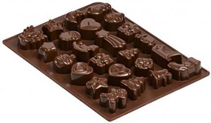 Des moules à chocolat