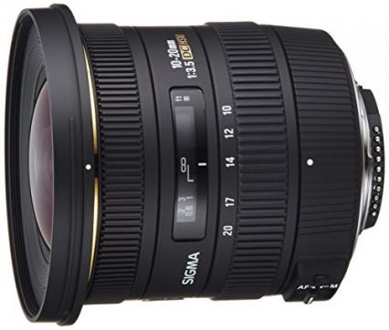 Objectif Sigma 10-20 mm F3, monture Nikon