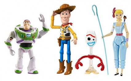 Les figurines de Buzz, Woody, Fourchette et Bo de Toy Story 4
