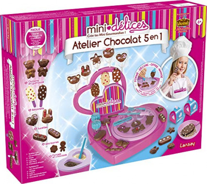 L'atelier chocolat 5 en 1 mini-délices de Lansay, pour faire des petites sucreries