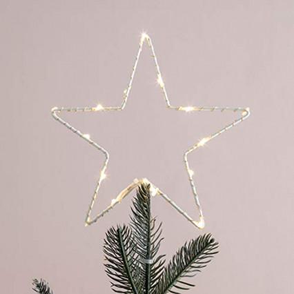 L'étoile à poser en haut du sapin