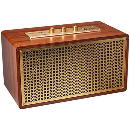 L'enceinte Bluetooth vintage AmazonBasics, pour compléter l'installation sonore
