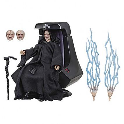 Une figurine de l'Empereur Palpatine et son trône, édition collector Black Series