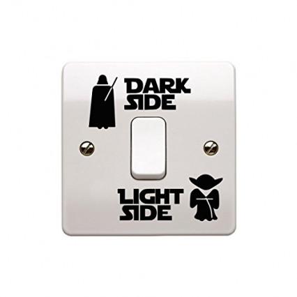 Le sticker Dark Side/Light Side pour interrupteur