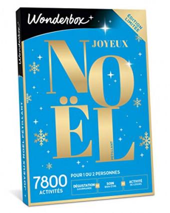 Une Wonderbox coffret cadeau de Noël pour une activité détente