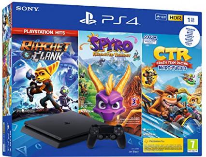 La PS4 version pro 1 To avec 3 jeux