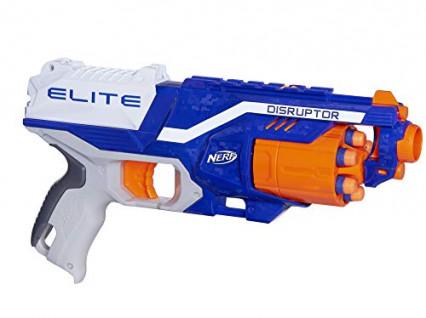 Un pistolet Nerf, pour se faire la gueguerre à coups de fléchettes en mousse